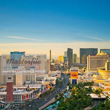 USA, Nevada, Las Vegas, The Strip Stock Photo - Premium Royalty-Free, Image code: 6106-07455130