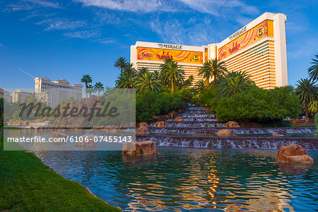 Las Vegas, The Strip, The Mirage Hotel and Casino Stock Photo - Premium Royalty-Free, Image code: 6106-07455143