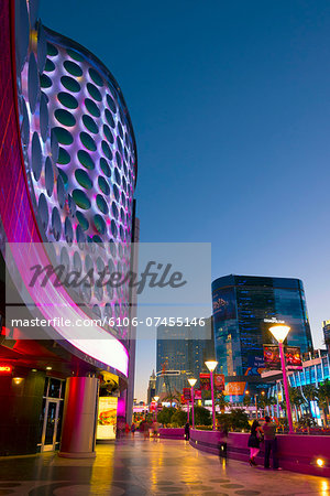 Las Vegas, The Strip, Planet Hollywood facade Stock Photo - Premium Royalty-Free, Image code: 6106-07455146