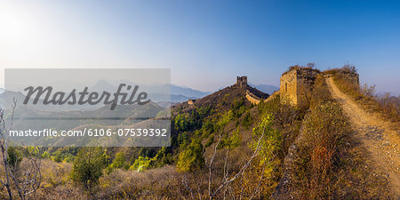 China, Great Wall of China, Gubeikou - Jinshanling Stock Photo - Premium Royalty-Free, Image code: 6106-07539392