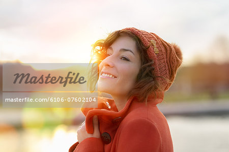 Woman Portrait in Jardin des Tuileries, Paris Stock Photo - Premium Royalty-Free, Image code: 6106-07602104