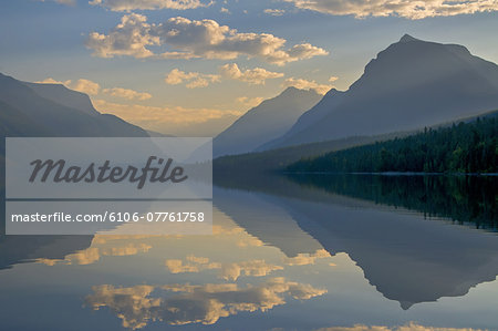 Glacier NP Lake McDonald sunrise Stock Photo - Premium Royalty-Free, Image code: 6106-07761758