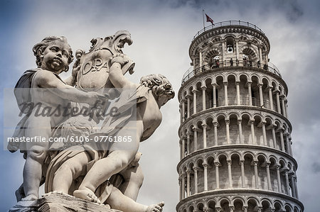 Pisa, the leaning tower Stock Photo - Premium Royalty-Free, Image code: 6106-07761865