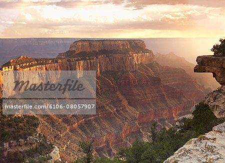 View of the Grand Canyon from the North Rim Stock Photo - Premium Royalty-Free, Image code: 6106-08057907