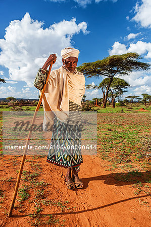 The old man from Borana tribe in Southern Ethiopia Stock Photo - Premium Royalty-Free, Image code: 6106-08080644
