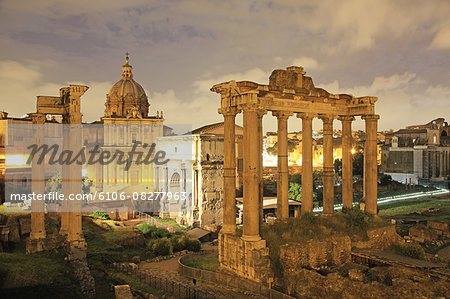 Italy, Rome, Foro Romano Stock Photo - Premium Royalty-Free, Image code: 6106-08277963