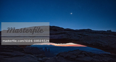 Mesa Arch and pre-dawn light Stock Photo - Premium Royalty-Free, Image code: 6106-08509329