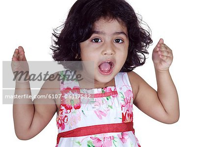Portrait of a girl looking curiously Stock Photo - Premium Royalty-Free, Image code: 6107-06117582
