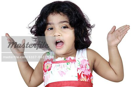 Portrait of a girl looking curiously Stock Photo - Premium Royalty-Free, Image code: 6107-06117583