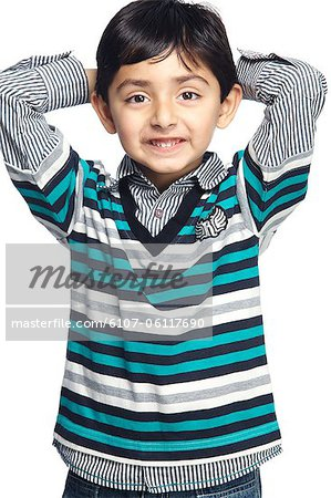 Portrait of little boy Stock Photo - Premium Royalty-Free, Image code: 6107-06117690