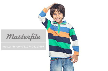 Portrait of little boy Stock Photo - Premium Royalty-Free, Image code: 6107-06117697