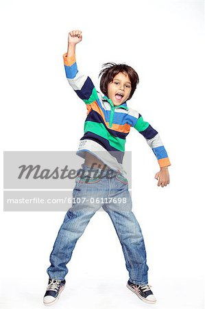 Portrait of little boy Stock Photo - Premium Royalty-Free, Image code: 6107-06117698