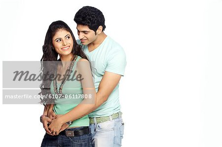 Portrait of young couple Stock Photo - Premium Royalty-Free, Image code: 6107-06117808
