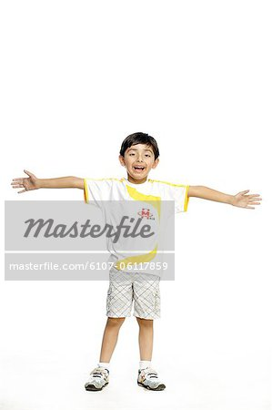 Portrait of a boy smiling Stock Photo - Premium Royalty-Free, Image code: 6107-06117859