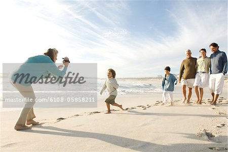Family on the beach Stock Photo - Premium Royalty-Free, Image code: 6108-05858211
