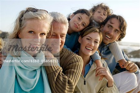 Family on the beach Stock Photo - Premium Royalty-Free, Image code: 6108-05858213
