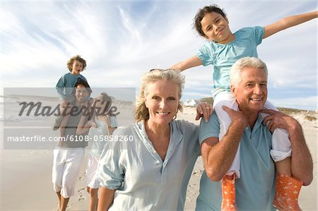 Family on the beach Stock Photo - Premium Royalty-Free, Image code: 6108-05858260