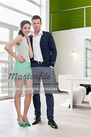 Portrait of a romantic couple Stock Photo - Premium Royalty-Free, Image code: 6108-06166384