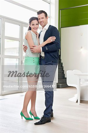 Couple embracing each other Stock Photo - Premium Royalty-Free, Image code: 6108-06166437