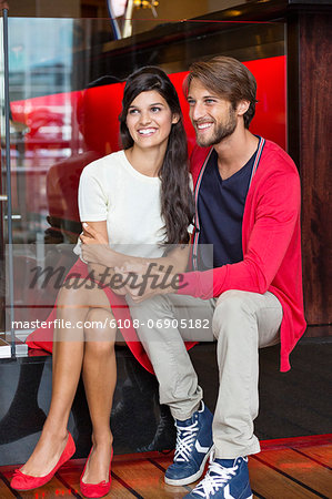 Romantic couple in a restaurant Stock Photo - Premium Royalty-Free, Image code: 6108-06905182