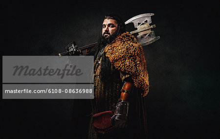 Warrior dwarf Stock Photo - Premium Royalty-Free, Image code: 6108-08636988
