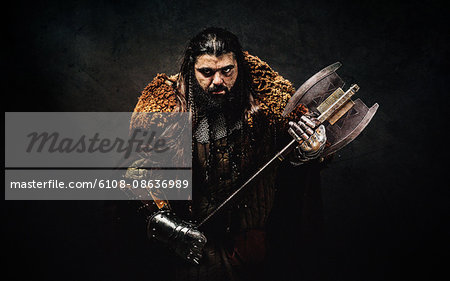 Warrior dwarf Stock Photo - Premium Royalty-Free, Image code: 6108-08636989