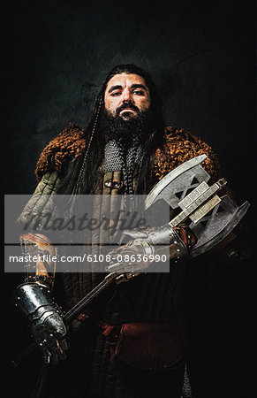 Warrior dwarf Stock Photo - Premium Royalty-Free, Image code: 6108-08636990