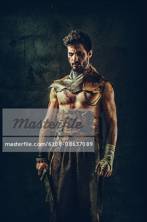 Tribal warrior Stock Photo - Premium Royalty-Free, Image code: 6108-08637089