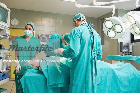 View of medical team Stock Photo - Premium Royalty-Free, Image code: 6109-06195906