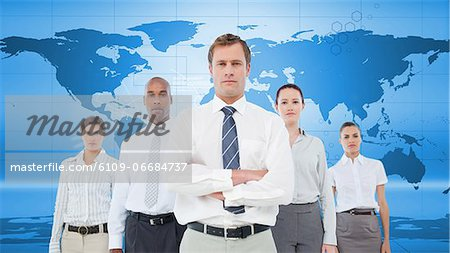 Serious business team Stock Photo - Premium Royalty-Free, Image code: 6109-06684737