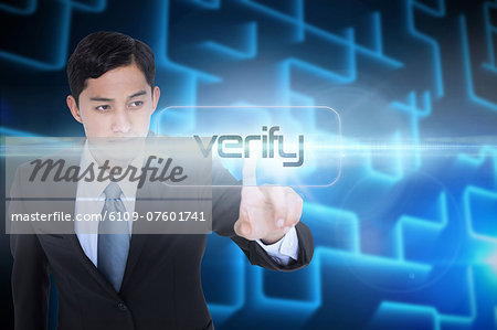 Verify against shiny lines on black background Stock Photo - Premium Royalty-Free, Image code: 6109-07601741