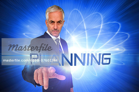 Planning against shiny futuristic sphere Stock Photo - Premium Royalty-Free, Image code: 6109-07601744