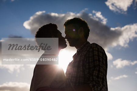 Homosexual couple nose-to-nose Stock Photo - Premium Royalty-Free, Image code: 6109-08390482