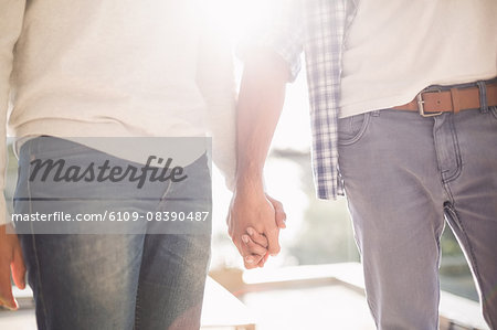 Close up of gay couple holding hands together Stock Photo - Premium Royalty-Free, Image code: 6109-08390487