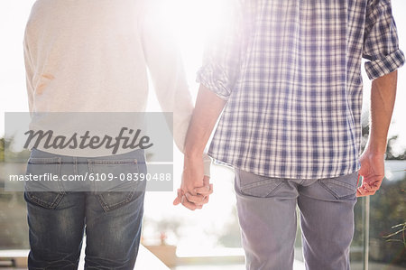 Close up of gay couple holding hands together Stock Photo - Premium Royalty-Free, Image code: 6109-08390488