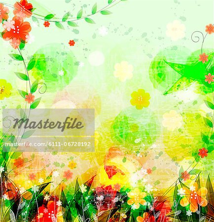 Flora Background Stock Photo - Premium Royalty-Free, Image code: 6111-06728192