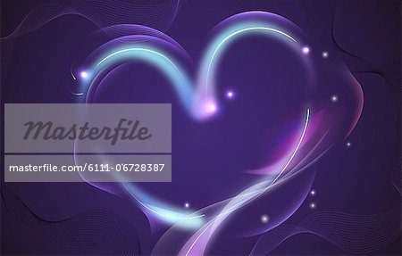 Abstract design of a heart Stock Photo - Premium Royalty-Free, Image code: 6111-06728387