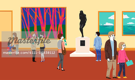 People in museum Stock Photo - Premium Royalty-Free, Image code: 6111-06838112
