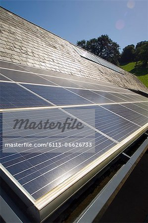 Close up of solar panels outdoors Stock Photo - Premium Royalty-Free, Image code: 6113-06626733