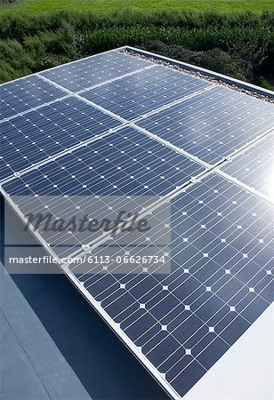 Close up of solar panels outdoors Stock Photo - Premium Royalty-Free, Image code: 6113-06626734