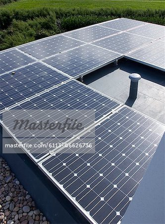 Close up of solar panels outdoors Stock Photo - Premium Royalty-Free, Image code: 6113-06626736