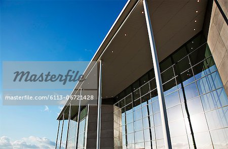 Modern building and blue sky Stock Photo - Premium Royalty-Free, Image code: 6113-06721428