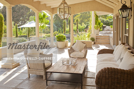 Luxury patio Stock Photo - Premium Royalty-Free, Image code: 6113-06898877
