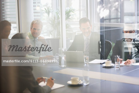Business people meeting in conference room Stock Photo - Premium Royalty-Free, Image code: 6113-06898995