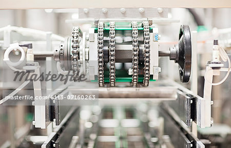 Close up of machinery in factory Stock Photo - Premium Royalty-Free, Image code: 6113-07160263