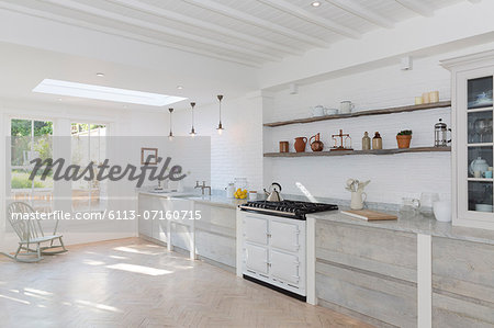 Luxury rustic kitchen Stock Photo - Premium Royalty-Free, Image code: 6113-07160715