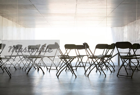 Empty chairs in office Stock Photo - Premium Royalty-Free, Image code: 6113-07242161