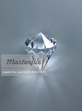 Close up of diamond Stock Photo - Premium Royalty-Free, Image code: 6113-07243421