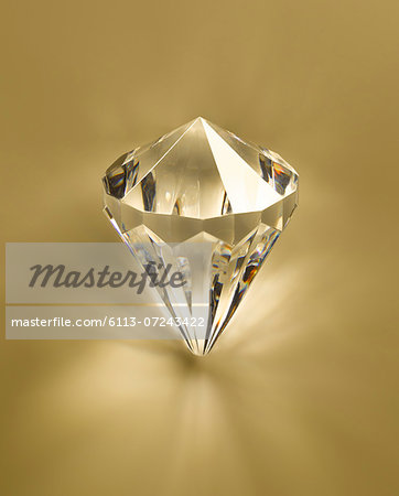 Close up of diamond Stock Photo - Premium Royalty-Free, Image code: 6113-07243422