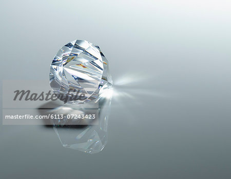 Close up of diamond Stock Photo - Premium Royalty-Free, Image code: 6113-07243423